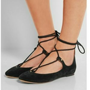 Chloe Foster lace up flats 38